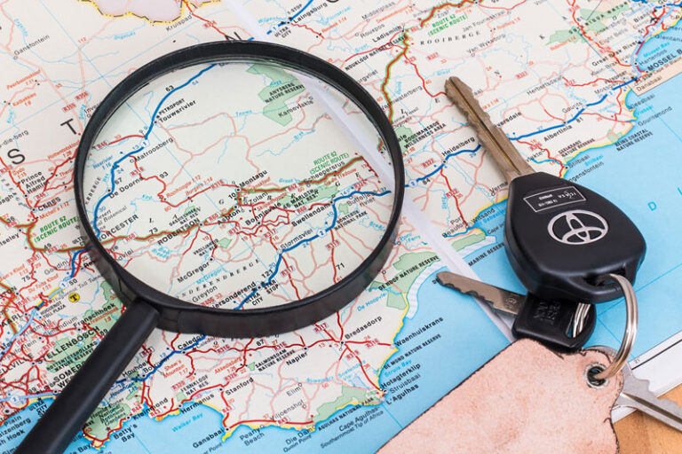 Standortroute mittels GPS Tracking feststellen