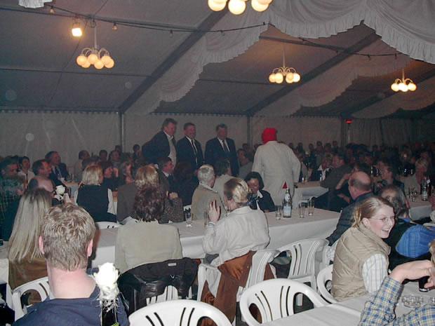 Erlebnismesse in Bredstedt 2003 Messeparty