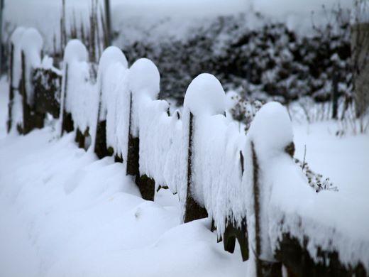 Winter und Schnee in Nordfriesland 2009